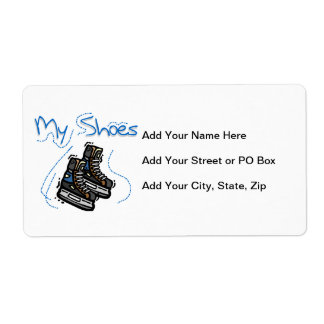 Hockey Skates My Shoes T-shirts and Gifts Label