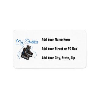 Hockey Skates My Shoes T-shirts and Gifts Custom Address Label