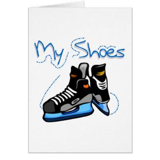 Hockey Skates My Shoes Tshirts and Gifts Card