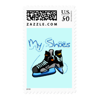 Hockey Skates My Shoes Tshirts and Gifts Postage