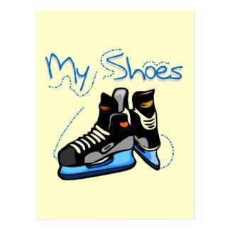Hockey Skates My Shoes Tshirts and Gifts Postcard
