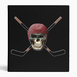 Hockey Skull & Crossed Sticks Binder