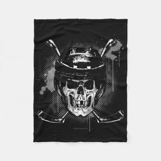 Hockey Skull Fleece Blanket