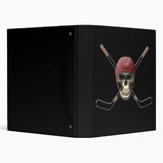 Hockey Skull Helm 3 Ring Binder