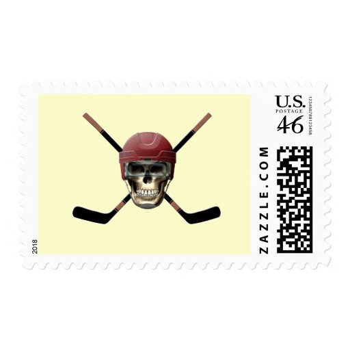Hockey Skull Helm Postage Stamps