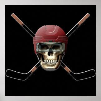 Hockey Skull Helm Posters