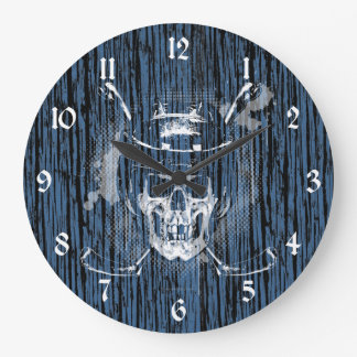 Hockey Skull Large Clock