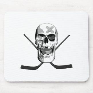 Hockey Skull Mouse Pad