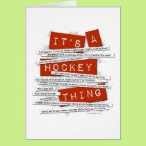 Hockey Slang Card