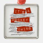 Hockey Slang Christmas Ornaments