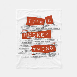 Hockey Slang Fleece Blanket