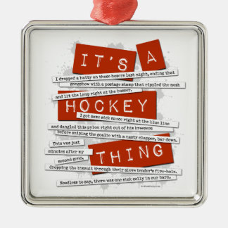 Hockey Slang Metal Ornament