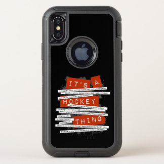 Hockey Slang OtterBox Defender iPhone X Case