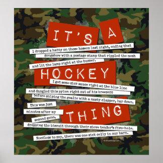 Hockey Slang Poster