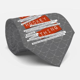 Hockey Slang Tie