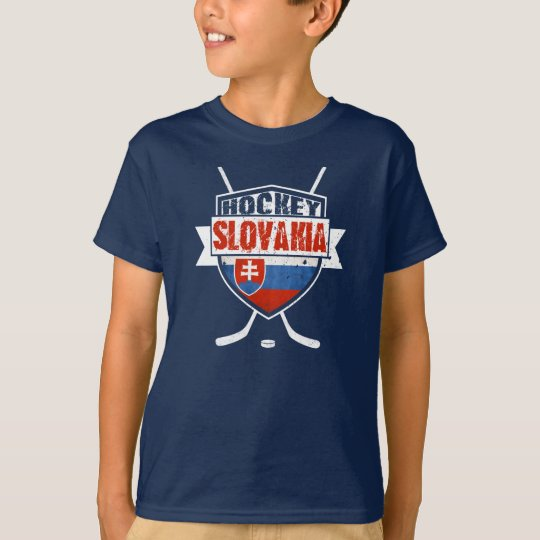 Hockey Slovakia Flag Design T-Shirt
