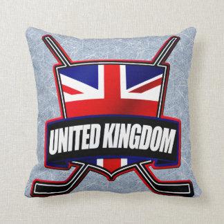 Hockey sobre hielo británico Reino Unido Cojin