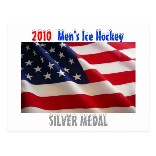 Hockey sobre hielo de 2010 hombres de los E.E.U.U. Tarjetas Postales