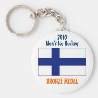 Hockey sobre hielo de 2010 hombres - medalla de br llavero redondo tipo pin