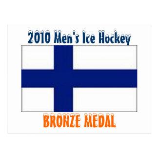 Hockey sobre hielo de 2010 hombres - medalla de br tarjetas postales