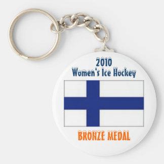 Hockey sobre hielo de 2010 mujeres - medalla de br llavero redondo tipo pin