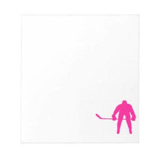 Hockey sobre hielo de las rosas fuertes blocs de papel