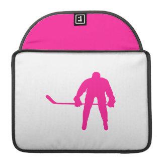 Hockey sobre hielo de las rosas fuertes fundas para macbooks
