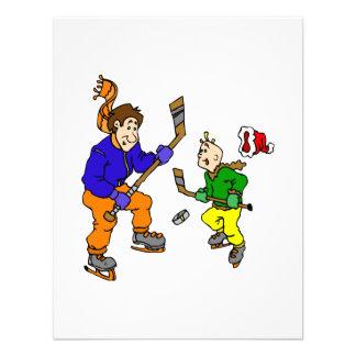 Hockey sobre hielo del papá y del hijo invitación