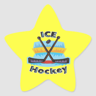Hockey sobre hielo pegatina en forma de estrella