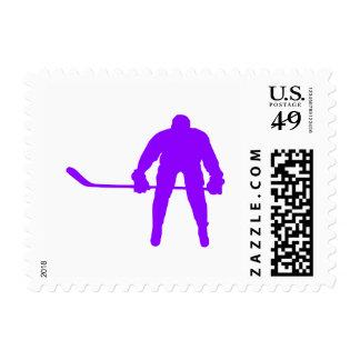 Hockey sobre hielo púrpura violeta franqueo
