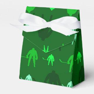Hockey sobre hielo verde caja para regalos de fiestas