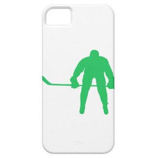 Hockey sobre hielo verde de Kelly iPhone 5 Protectores
