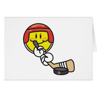 Hockey sonriente tarjeta de felicitación