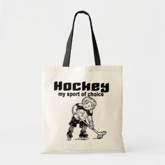 Hockey Sport of Choice Tshirts and Gifts Budget Tote Bag
