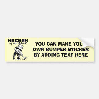 Hockey Sport of Choice Tshirts and Gifts Bumper Stickers