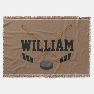 Hockey Sports Fan Blanket Gift Throw