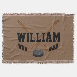 Hockey Sports Fan Blanket Gift Throw Blanket
