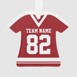 Hockey Sports Jersey Red with Photo Ornament