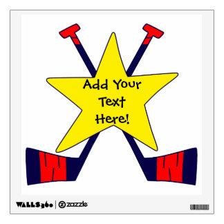 Hockey Star - Add Your Own Text! Room Decal