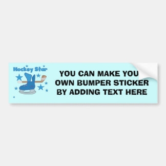 Hockey Star T-shirts and Gifts Bumper Sticker