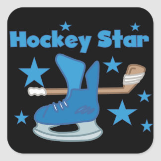 Hockey Star T-shirts and Gifts Square Sticker
