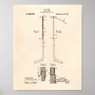 Hockey stick 1915 Patent Art - Old Peper Poster