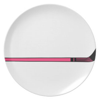 Hockey Stick Dinner Plate