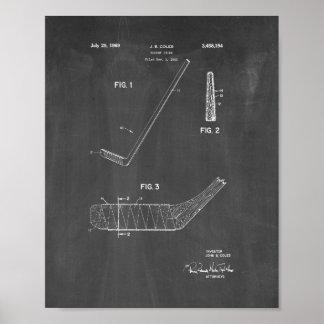 Hockey Stick Patent - Chalkboard Poster
