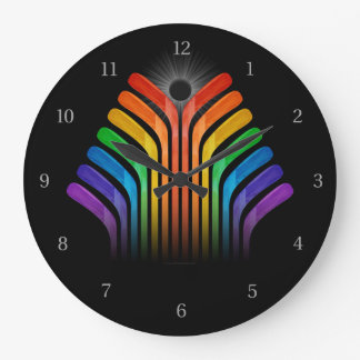 Hockey Stick Spectrum Large Clock
