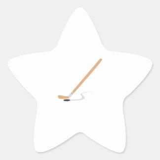 Hockey Stick Star Sticker