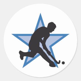hockey classic round sticker