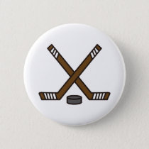 Hockey Sticks and Puck Button