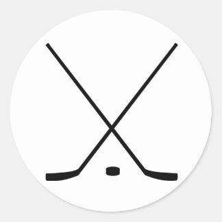 Hockey Sticks And Puck Sticker