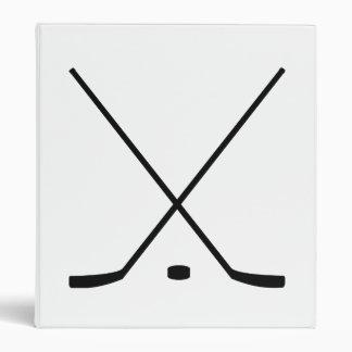 Hockey Sticks And Puck Vinyl Binders